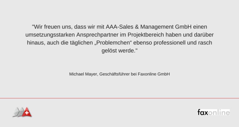 Referenzschreiben Faxonline GmbH