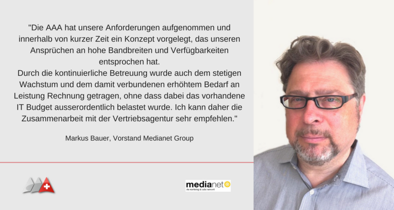 Referenzschreiben Medianet Group